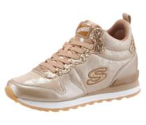 Sneaker beige / gold