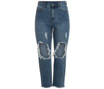 High-Waist-Jeans blue denim