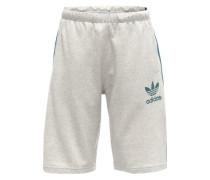 Shorts aus Sweat hellgrau