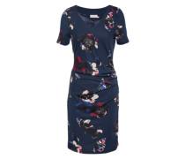 Kleid 'Eva India' dunkelblau / mischfarben
