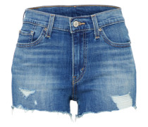 High Waist Jeans Short dunkelblau