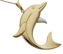Kettenanhänger 'Delfin glanz'