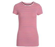 T-Shirt Gestreiftes rot / weiß