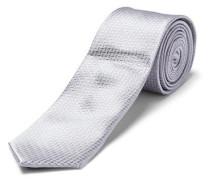 Krawatte Seiden - grau / silber