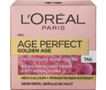 'Age Perfect Golden Age Tagespflege' Gesichtspflege gold / altrosa
