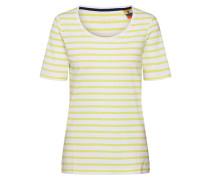 Shirt weiß / gelb