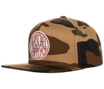 Scope Snapback Cap braun / dunkelgrün / schwarz