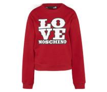 Sweater 'Love' rot / weiß