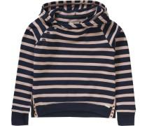 Sweatshirt mit Kapuze für Mädchen dunkelblau