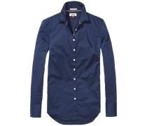 Bluse 'thdw Basic Stretch Shirt L/S 1' navy