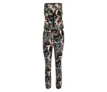 Jumpsuit 'Tropical' oliv / mischfarben / schwarz