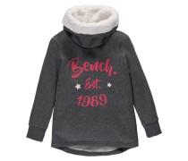 Sweatshirt creme / dunkelgrau / cranberry