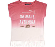 T-Shirt für Mädchen gold / orange / rot / weiß
