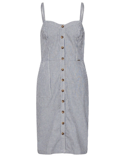Kleid 'Mila' blau / naturweiß