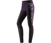 'Fly By' Lauftights Damen aubergine / flieder