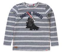 Langarmshirt Star Wars für Jungen dunkelblau / graumeliert / rot / schwarz / naturweiß