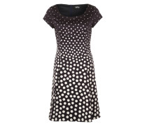 Kleid mit Punktemuster blau