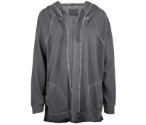 Kapuzensweatjacke Jacket Cape grau