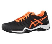 Tennisschuhe Gel-Resolution 7 Clay orange / schwarz