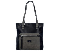 'Ella' Shopper Tasche 31 cm basaltgrau / schwarz