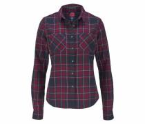Karobluse 'lumberjack Twill Shirt' dunkelblau / dunkelrot / weiß