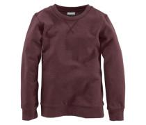Sweatshirt in Melange-Optik für Jungen bordeaux