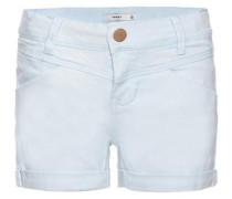 Slim-Twill-Shorts 'Aline' azur
