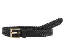 Leder-Jeans-Gürtel schwarz