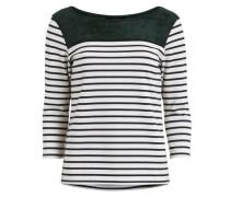 3/4-ärmeliges Shirt 'vitinny MIX Top' grün / weiß