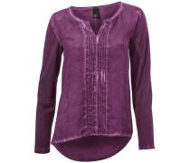 Shirtbluse lilameliert / merlot