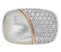 Damen Fingerring Silber Silber Lily Jprg90710A silber / weiß