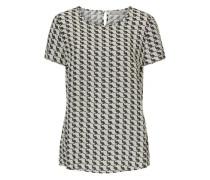 Bluse mit dekorativem Allover Muster beige / khaki