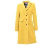 Wollmantel gelb