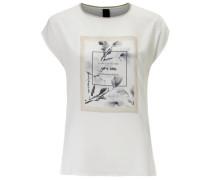 Druckshirt mit Schriftzug creme / offwhite
