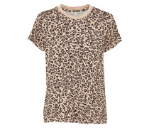 Jerseyshirt 'leo Tee' beige / hellbraun