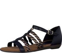 Sandale gold / schwarz