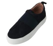 Wildleder-Sneaker ultramarinblau / weiß