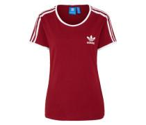 T-Shirt 'sandra 1977' weinrot / weiß