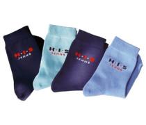Socken (4 Paar) türkis / hellblau / dunkelblau / dunkellila