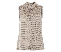 Ärmellose Bluse mit Allover-Print mischfarben