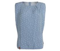 Oversize-Shirt 'Gingko Biloba II' blau