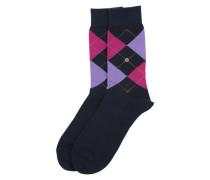 Socke 'Queen Sock' marine / lila / pink