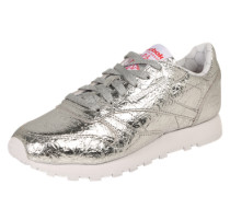 Sneakers im Metallic-Design silber