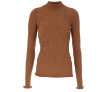 Pullover Tight High Neck braun