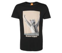 T-Shirt mit Print 'Talan 2' schwarz