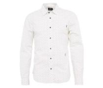 Bedrucktes Hemd weiß