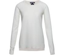 Pullover »Gianna Texture Round-Nk Swtr« weiß