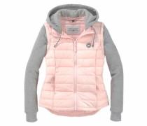 Steppjacke grau / rosa
