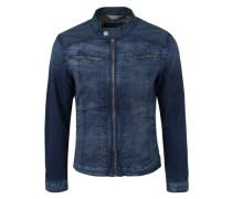Jeansjacke mit Kontrast-Details blau