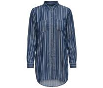 Lockeres Langarmhemd dunkelblau